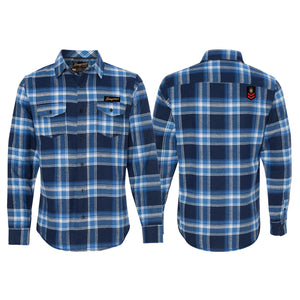 CampLife Flannel Blue/White