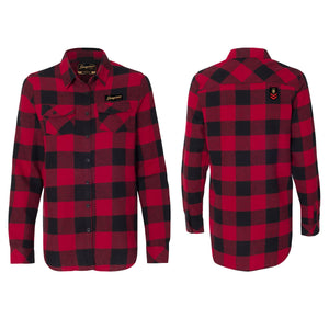 CampLife Flannel Buffalo Red/Black Ladies