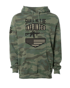 Shall Not Camo Mid Weight Hoodie