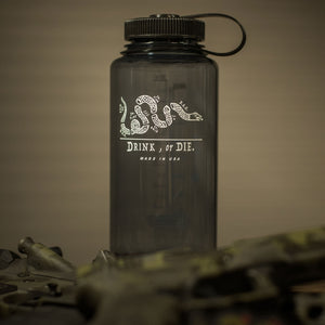 Drink, or DIE Black Nalgene Bottle