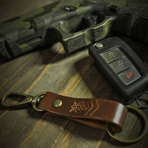 DBG Brown Leather Key Chain
