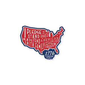 The Pledge Sticker R/W/B