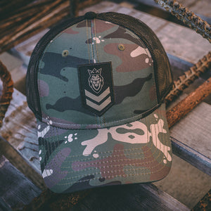 Stripes 2.0 Camo/Black Curved Bill Hat