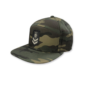 Stripes 2.0 Camo 7 Panel Hat