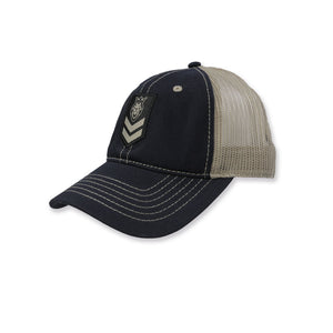 Stripes 2.0 Navy/Tan Curved Bill Hat