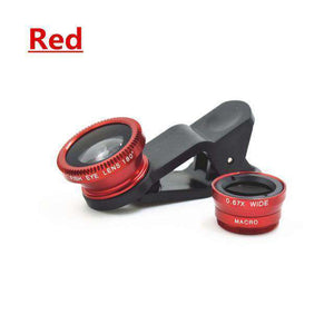 3-in-1 Universal Mobile Phone Lens - Fisheye Lens Fish Eye + Wide Angle + Macro