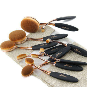 10/p Professional Foundation Powder Brush Kits
