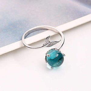 925 Sterling Silver Blue Glow Ring