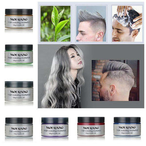 A Great Hair color wax dye one- time molding paste