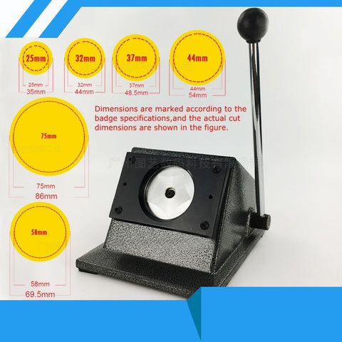 "Circle Cutter N3 1/"" 25mm Badge Button Maker 100 Metal Pin Back+Mould  KIT"