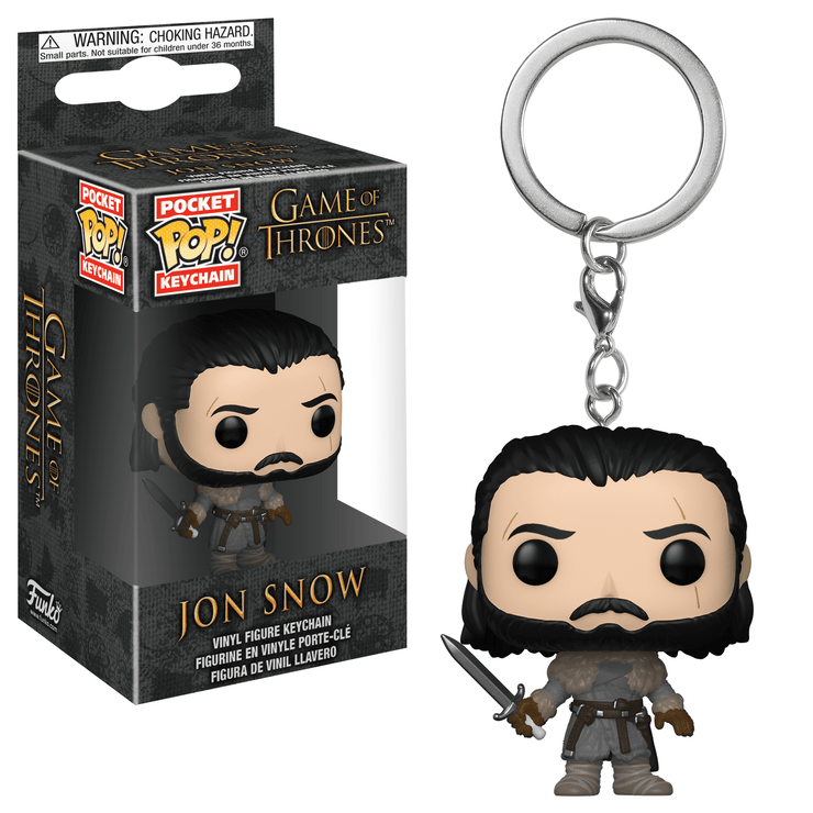 Jon Snow Pop! Keychain