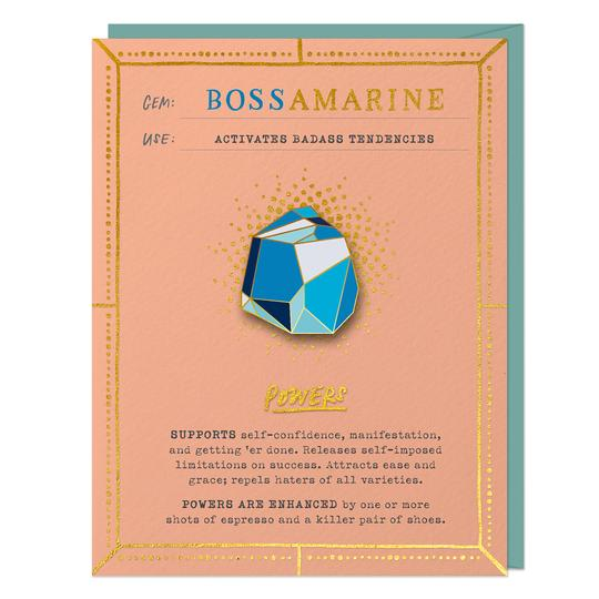 Bossamarine Gem Card & Pin