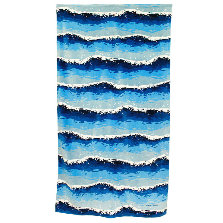 "Blue Waves Towel, 71""x39"""