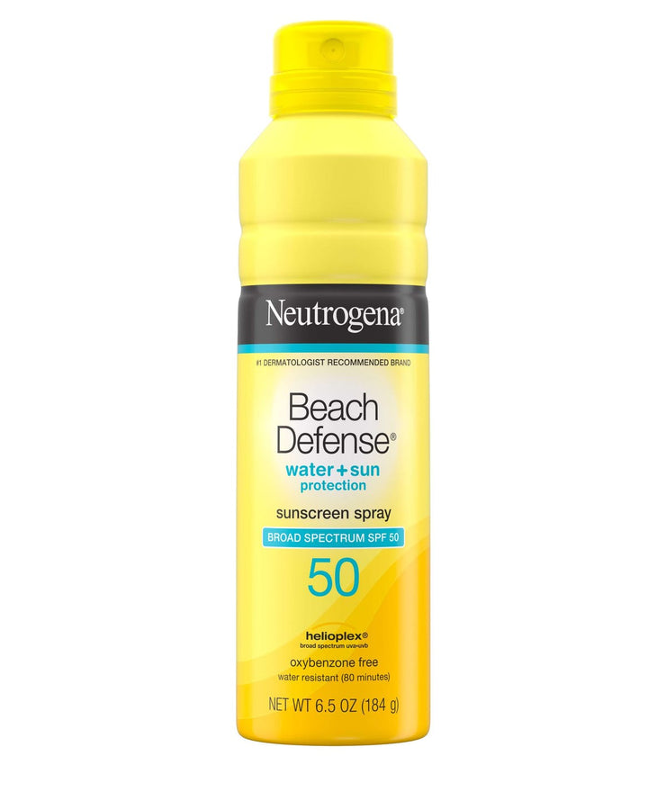 SPF50 Beach Defense Sunscreen Spray, 6.5oz