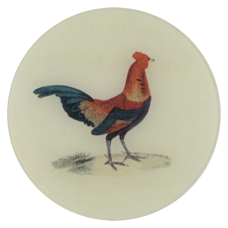 "Winged Flock: Ginger, 7"" Plate"