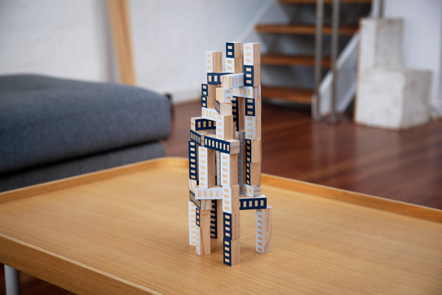Blockitecture Tower Blue, James Paulius