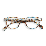 #D BLUE TORTOISE Reading Glasses