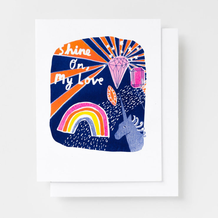 Shine On, My Love Risograph Card