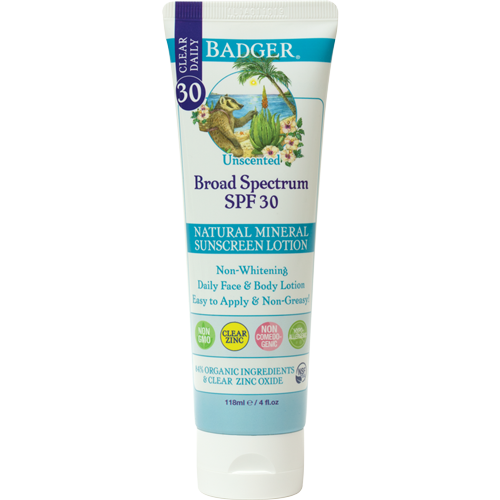 SPF30 Clear Zinc Sunscreen Lotion, 4oz