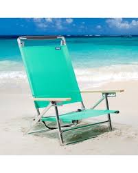 5-Position Lay-Flat Beach Chair, Asst.