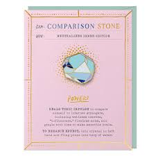 Camparison Gem Card & Pin