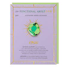 Functional Adult Gem Card & Pin