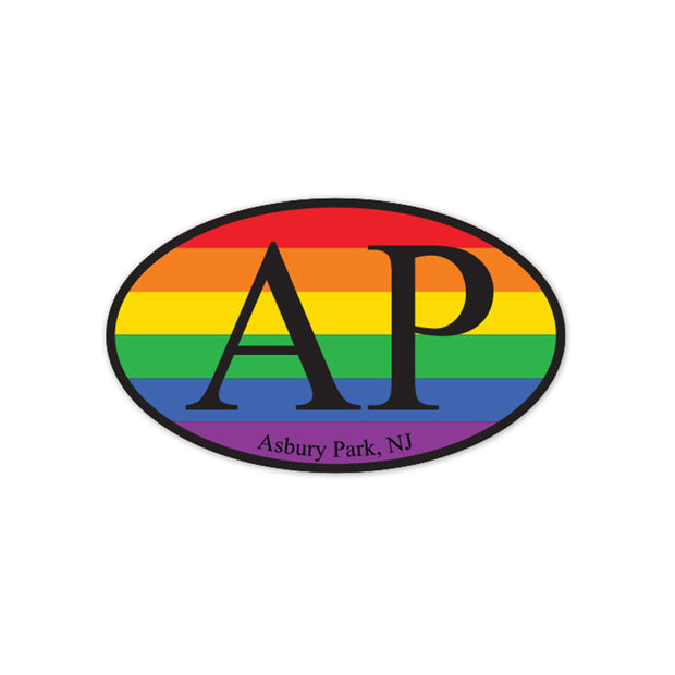 Asbury Park Pride Oval Magnet