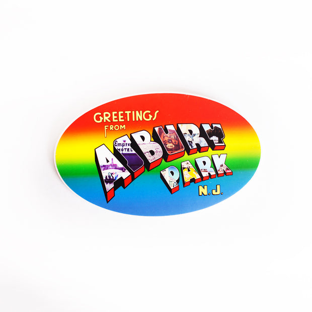 Greetings from Asbury Park Sticker