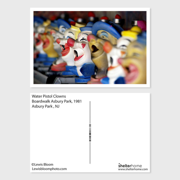 Water Pistol Clowns Postcard