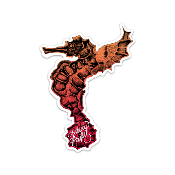 Seahorse, Orange Sticker