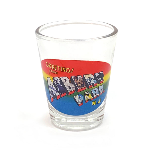 Greetings From Asbury Park Shot Glass