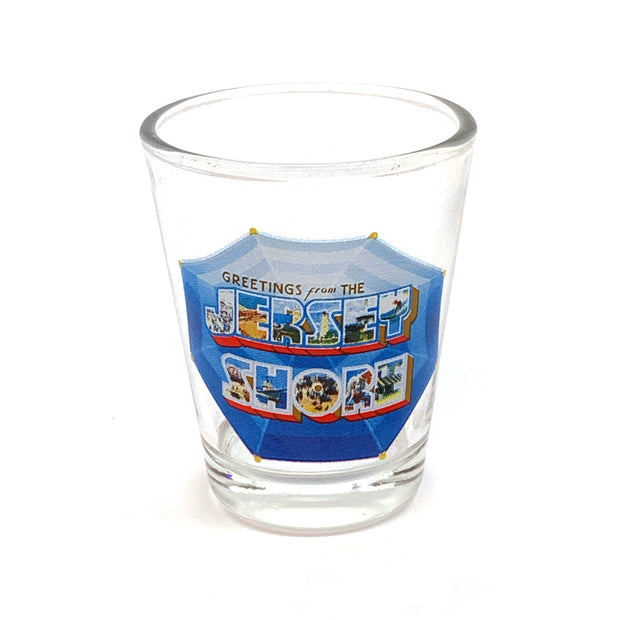 Greetings from the Jersey Shore Shot Glass