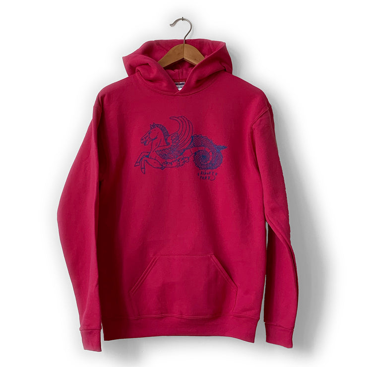 Horse Cyber Pink Sweatshirt, Youth