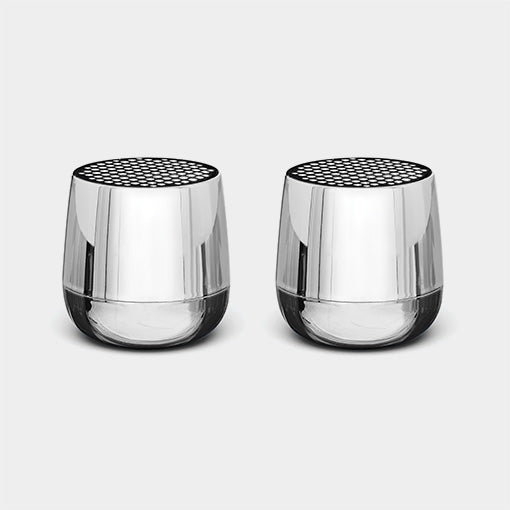 Twin MINO+ BT Speakers, Metallic Chrome