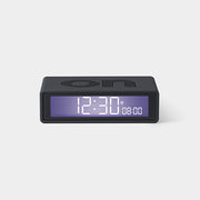Flip On/Off RUBBER GREY Alarm Clock