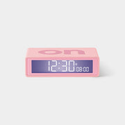 Flip On/Off RUBBER PINK Alarm Clock