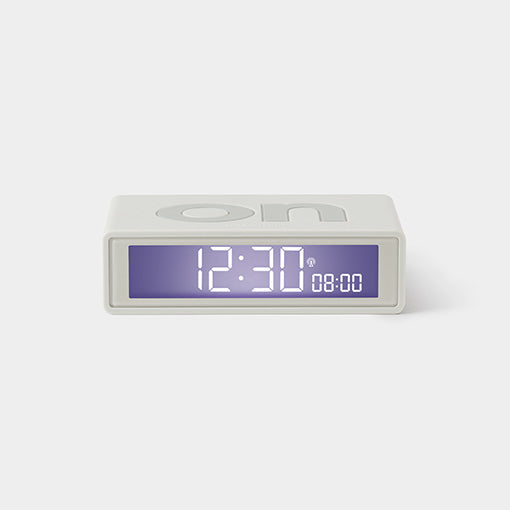 Flip On/Off WHITE Alarm Clock