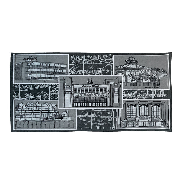 Landmarks Beach Towel, Mike Woods