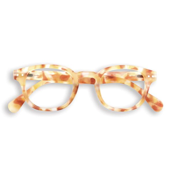 #C YELLOW TORTOISE Reading Glasses, +1.5