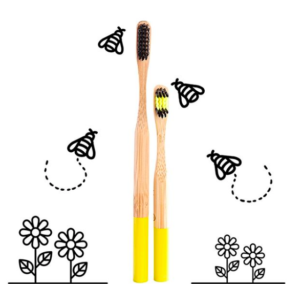 Bees Bamboo Toothbrush, SOFT