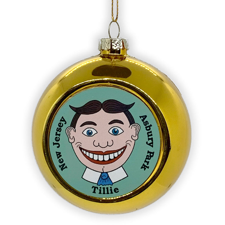 Tillie Ball Ornament, Gold