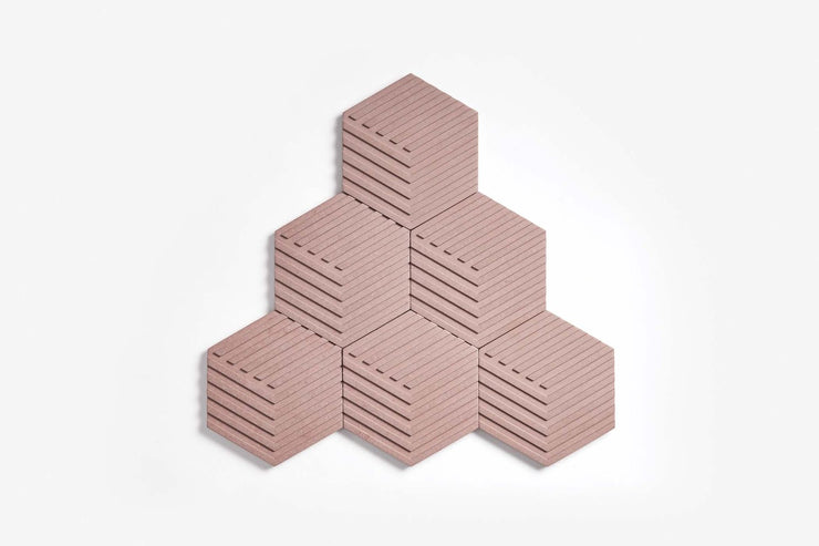 Concrete Table Tiles, Angique Pink