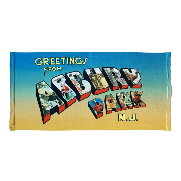 Vintage Greetings... Beach Towel