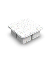 Extra Large Ice Cube Tray Speckled White