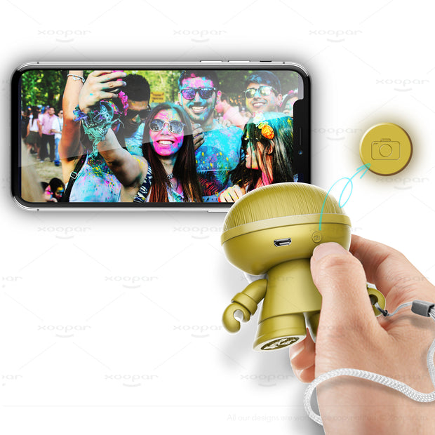 Xoopar Boy BT Mini Speaker, Gold