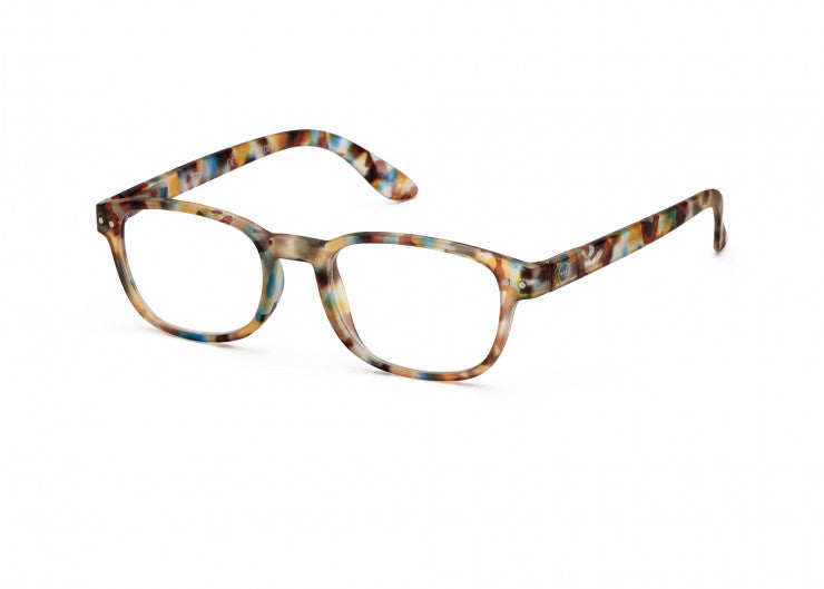 #B BLUE TORTOISE Reading Glasses
