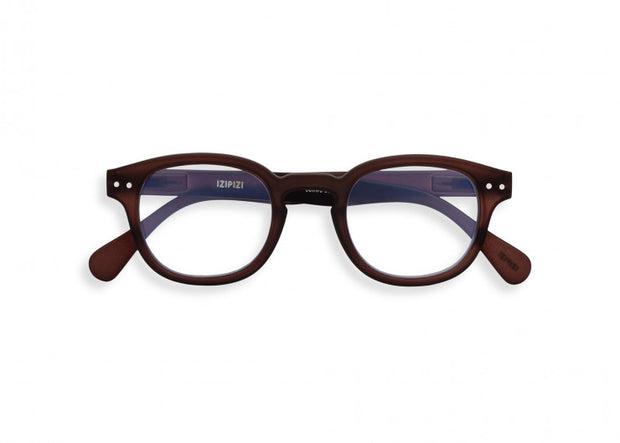 #C DARK WOOD Reading Glasses