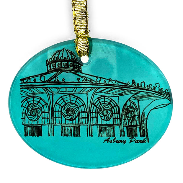 Carousel Glass Disk Ornament