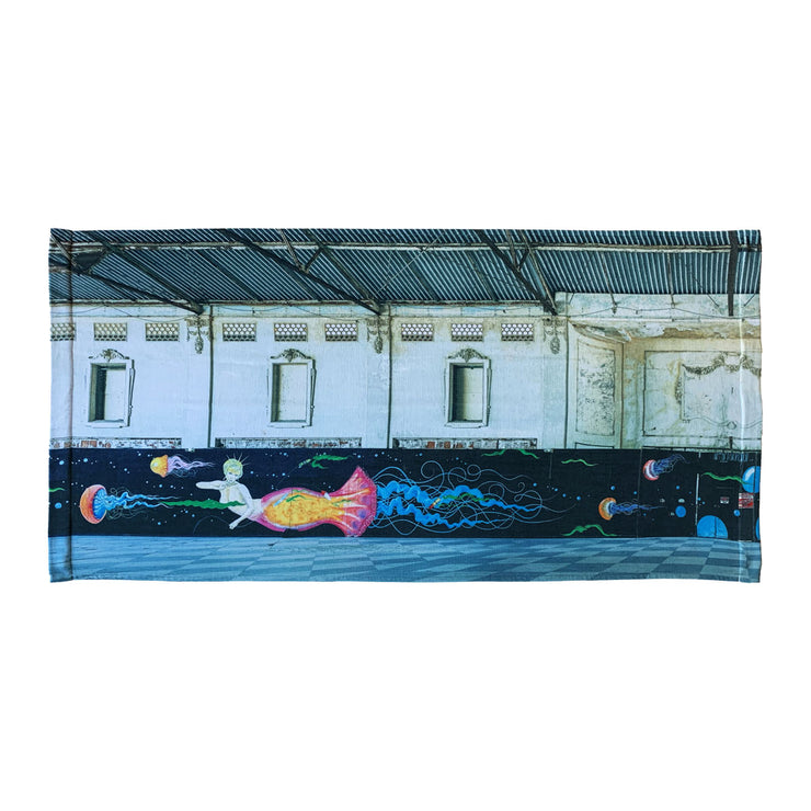 'Asbury Park Casino, 2015' Beach Towel, Left
