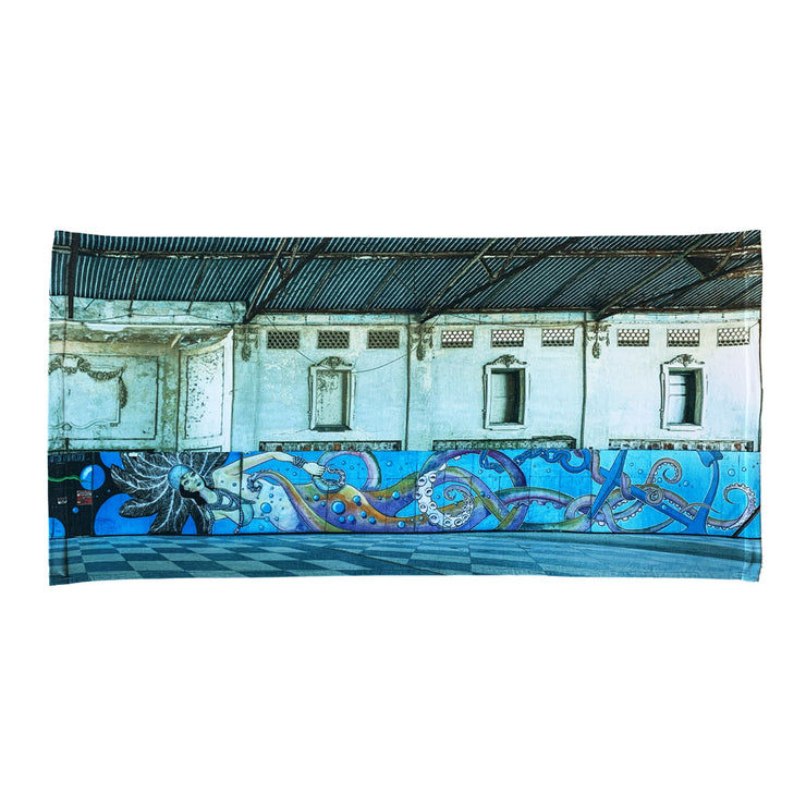 'Asbury Park Casino, 2015' Beach Towel, Right